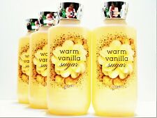 Bath Body Works WARM VANILLA SUGAR Luxury Bubble Bath, 10oz/295 mL, NEW x 4