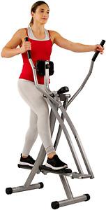 Sunny Health & Fitness Unisex's Air Walk Trainer w/LCD Monitor SF-E902 Machine,