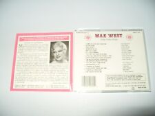 MAE WEST Queen Of Sex Sings Sultry Songs 16 Track cd 1990 Ex + Condition