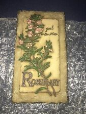 "Nib Roman, Inc 6.5"" Herb Plaque Wall Decoration Decor: Rosemary #27160"