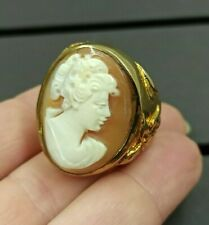 grande anello cammeo firma Amedeo HSN Statement cameo Ring