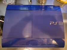 New listing PlayStation 3 Ps3 Azurite Blue Super Slim (Cech-4201B) - 250Gb Console Only
