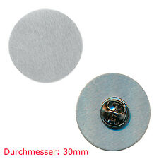 10 Pin Rohlinge 30 mm - Neu - Blankopins Metall Button Badge Pin Anstecker 0812