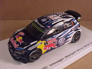 SPARK  #S4501 1/43 Resin VW Polo R WRC, Winner 2015 Monte Carlo Rally, Red Bull