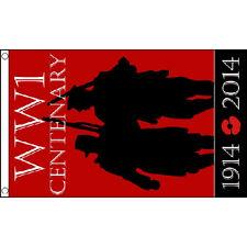 Ww1 Centenary Flag 5Ft X 3Ft World War Military Poppy Rememberance Day Banner