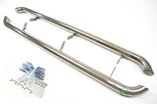 VW AMAROK  2010-up Side protection bars CHROME stainless steel s PAIR