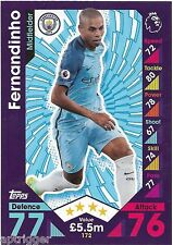 2016 / 2017 EPL Match Attax Base Card (172) FERNANDINHO Manchester City