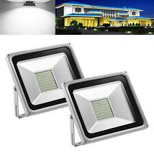 2x 50W Cool White Floodlight Outdoor Lamp LED Flood Wash Light IP65 220V AU
