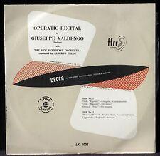 """Giuseppe Valdengo Alberto Erede Decca England 25 cm 10"""" LX 3005 LP NM-, CV EX"""
