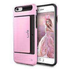 iPhone 6s Wallet Case Ultra Slim Shockproof Card Holder Slot Bumper Cover Pink