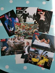 Limited Edition NME Postcards from 1997 - Oasis, Pulp, Manics and Keith Prodigy