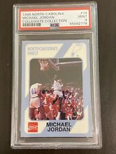 1989 Collegiate Collection Michael Jordan #14 PSA Mint 9 North Carolina UNC Card