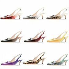 Womens Mid Heel Party Sandals Ankle Strap Gradient Formal Banquet Shoes 34/45 L