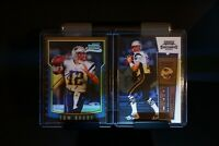 Tom Brady 2000 Contenders, and Bowman Chrome Rookie card. R/P Photos. NICE!