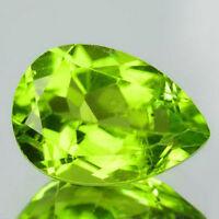 8x6mm PEAR-FACET STRONG-GREEN NATURAL AFGHAN PERIDOT GEMSTONE £1 NR!