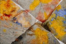 753004 Dedo pintura en las esquinas de cuatro Toallas de papel A4 Foto Textura impresión