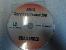 2013 DODGE CHALLENGER Service Shop Repair Manual CD DVD DEALERSHIP BRAND NEW OEM