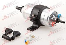 """External Fuel Pump 044 for Bosch+Billet Bracket black+1/2"""" Inlet 3/8""""Outlet Barb"""