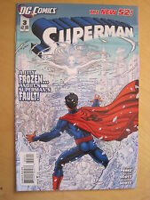 SUPERMAN  3 by GEORGE PEREZ . 1st  PRINTING. THE NEW 52 !DC.2012