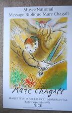 Chagall Original Poster Angel of Judgement 1974 Mourlot