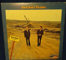 """SIGNED BY JIM & JESSE McREYNOLDS ON THE """"PARADISE'"""" LP RECORD COVER"""