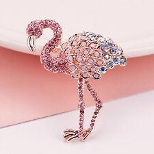 Pink Crystal Flamingo Brooch