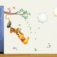 Winnie The Pooh Wall Stickers Nursery Boy kids baby Room Vinyl Art Decal Deco su