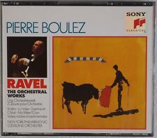 RAVEL: Orchestral Works, Pierre Boulez SONY 3x CD 1990 No IFPI Austria Box