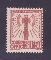 """FRANCE STAMP TIMBRE SERVICE N° 8 """" FRANCISQUE 1F50 BRUN-ROUGE """" NEUF (x) TB A12H"""