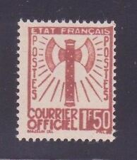 "FRANCE STAMP TIMBRE SERVICE N° 8 "" FRANCISQUE 1F50 BRUN-ROUGE "" NEUF (x) TB A129"