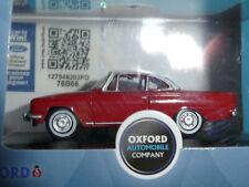 Ford Consul Capri in Monaco Red/ White 1962 1:76 Oxford Diecast New