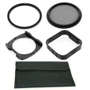 77mm Adapter Ring,CPL Filter,Wide Holder,Hood,Pouch fo Cokin P Series System,USA