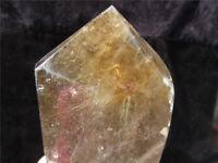 1575g Natural  Hair  RUTILE Quartz Crystal Wand Rutilated Point Healing  3.47lb