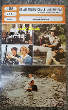 US Period Drama A River Runs Through It Robert Redford French Film Trade Card