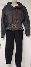 Retro Vintage Colmar Sportwear Women Green Ski Snow Suit Onesie Small Sz 4 Italy