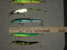 LOT OF 5 JOINTED MUSKY MUSKIE LURES PIKE SALMON