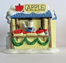 Rex & Lee 1990 Christmas Village Apple Stand