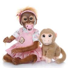 "Superior Detailed Reborn Monkey Doll Female Ape 20"" Vinyl Silicone Monkey Baby"