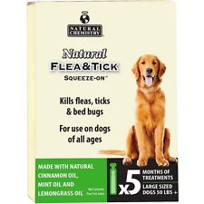 NATURAL CHEMISTRY FLEA BED BUG & TICK DOG LARGE 5 MONTH ALL AGE FREE SHIP TO USA