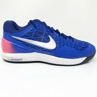 Nike Womens Zoom Cage 2 705260-404 Blue Pink Running Shoes Lace Up Size 7.5