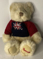 "Harrods 11"" Teddy Bear With Union Jack Sweatshirt"
