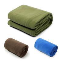Outdoor Camping Hiking Fleece Sleeping Bag 4 Season Insulation Mat Blanket w/Bag