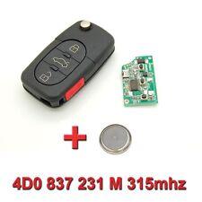Clé avec électronique vierge Audi A1 A3 A4 A5 A6 A8 TT Q7 4D0 837 231 M 315mhz