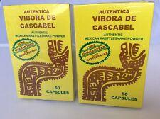 Vibora de Cascabel 100 Capsulas, Rattlesnake Capsules,  2 BOXES Vivora