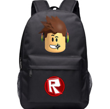 Game Roblox Cartoon Canvas Laptop Backpack Schoolbag for Boys Girls Travel Bags
