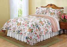 Amie Floral Stripe Reversible Quilt -Full/Queen
