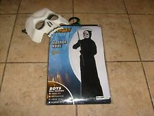 GRIM REAPER & BONUS MASK GHOUL ROBE HALLOWEEN COSTUME BOYS LARGE 12-14