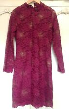 Next Burgundy Red / Gold Lace Xmas Party Dress Size 12 ( More 10/12) New BNWOT