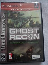 Tom Clancy's GHOST RECON Battlefield Combat Playstation PS2 Game Complete