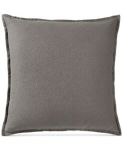 Hotel Collection Quilted EURO Pillow Sham Como Greyish Brown 316